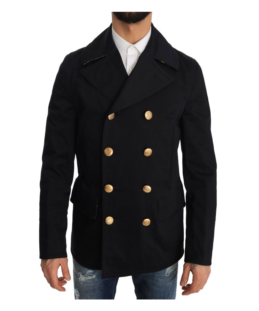 Image for Dolce & Gabbana Trench Blue Cotton Stretch Jacket
