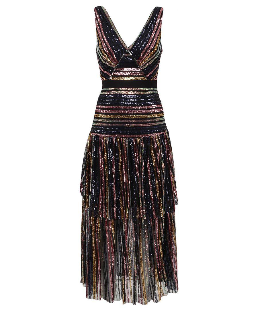 Image for SELF-PORTRAIT WOMEN'S RS20016MULTI MULTICOLOR POLYAMIDE DRESS