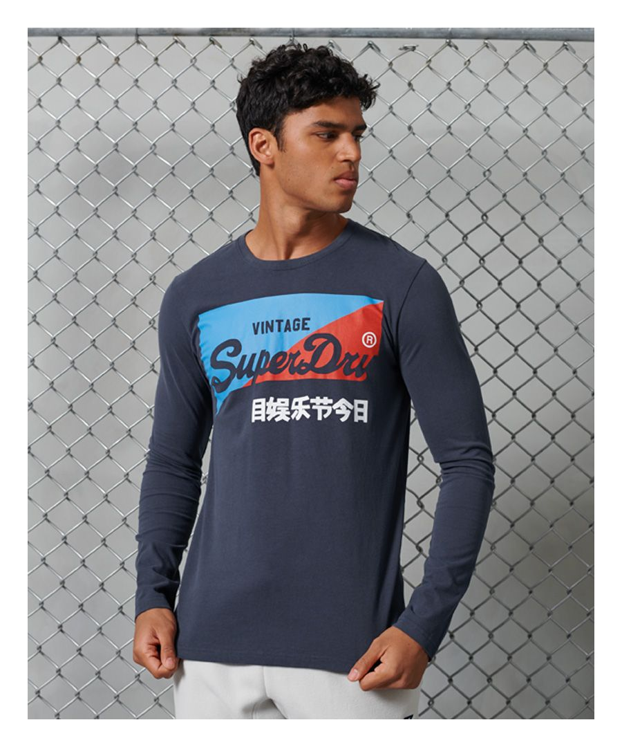 Image for Superdry Organic Cotton Vintage Logo Primary Top