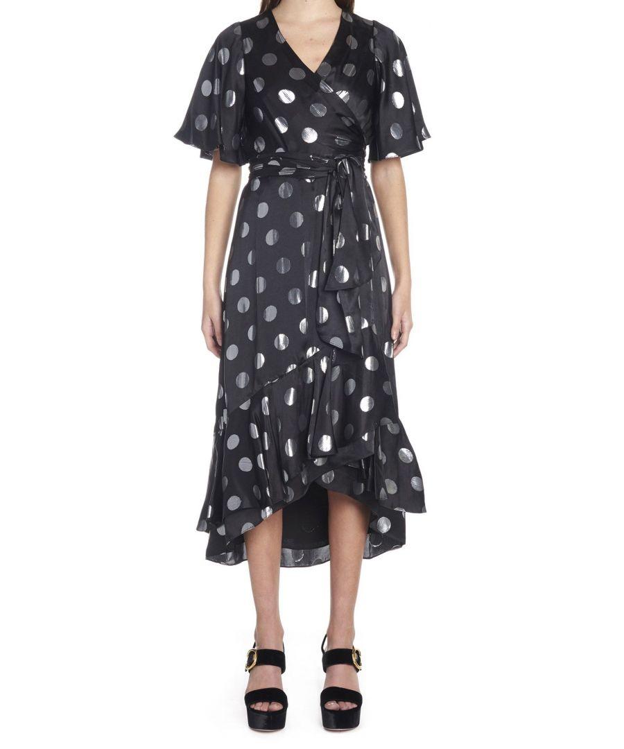 Image for DIANE VON FURSTENBERG WOMEN'S 12447DVFBLKSV BLACK SILK DRESS