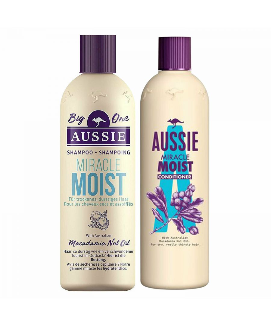 Image for Aussie Miracle Moist Shampoo 500ml & Conditioner 400ml