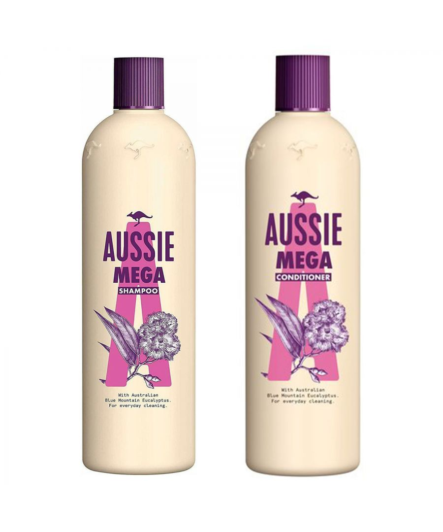 Image for Aussie Mega Shampoo 500ml & Conditioner 400ml