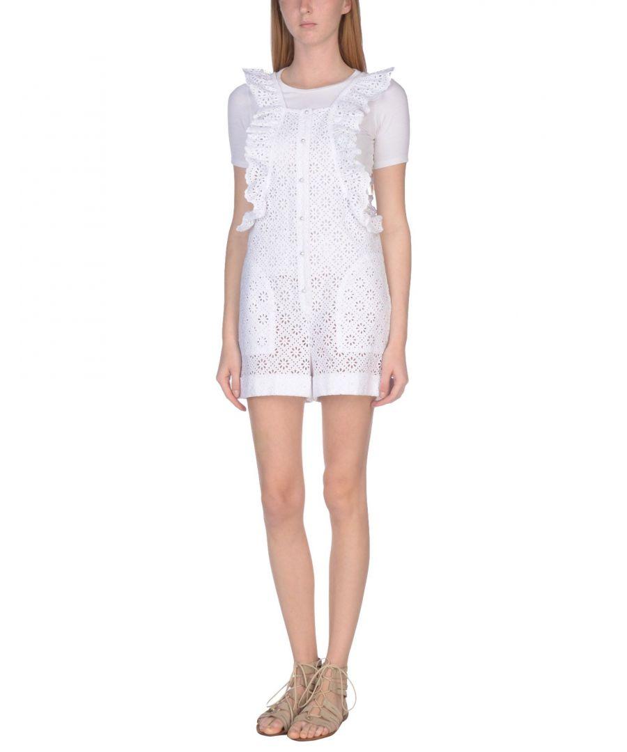 Image for Philosophy Di Lorenzo Serafini White Cotton Lace Playsuit