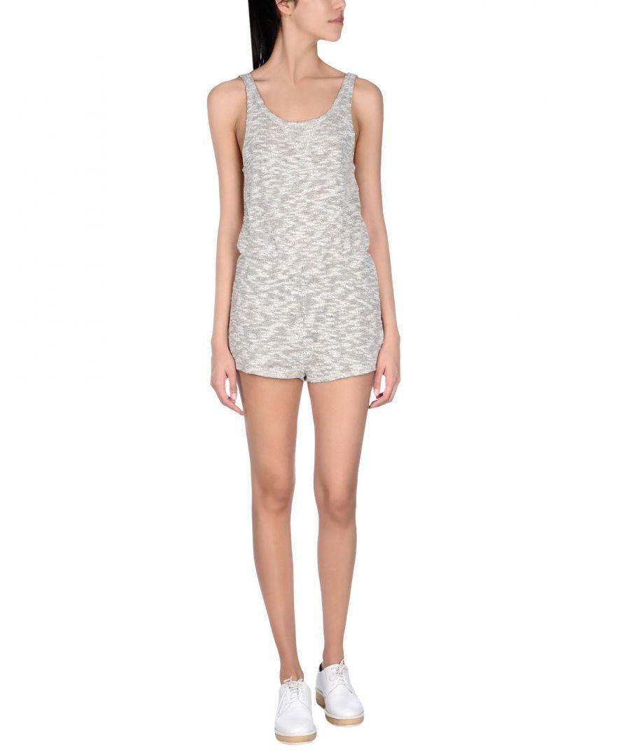 Image for LNA White Cotton Melange Knit Playsuit