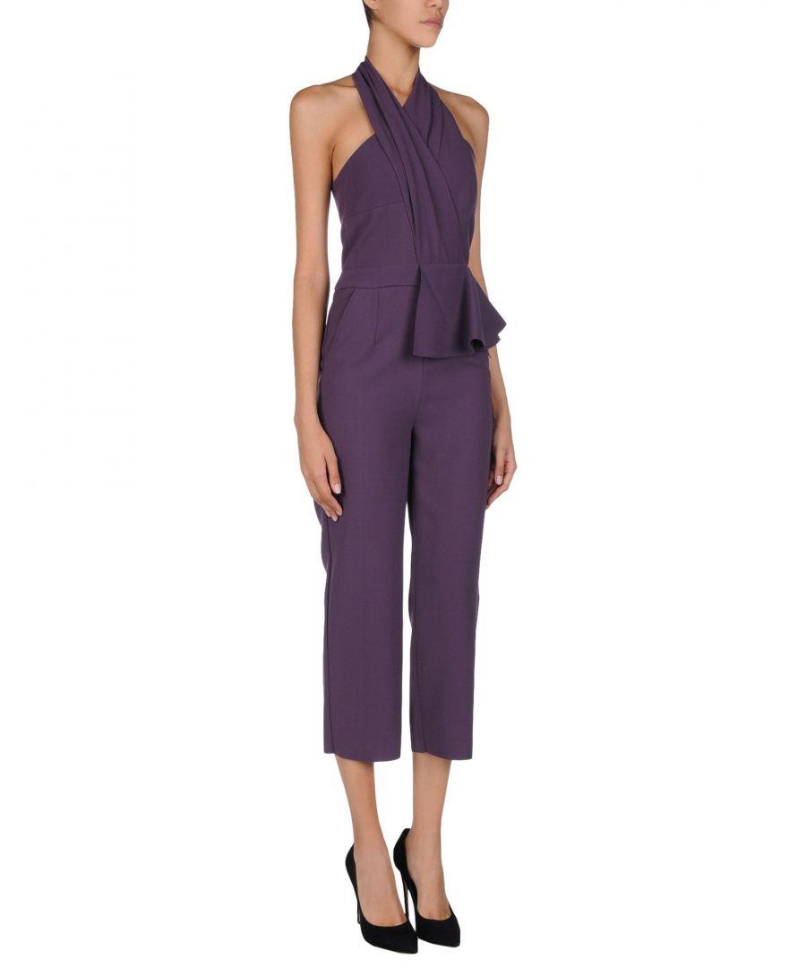 Image for Atos Lombardini Purple Crepe Jumpsuit