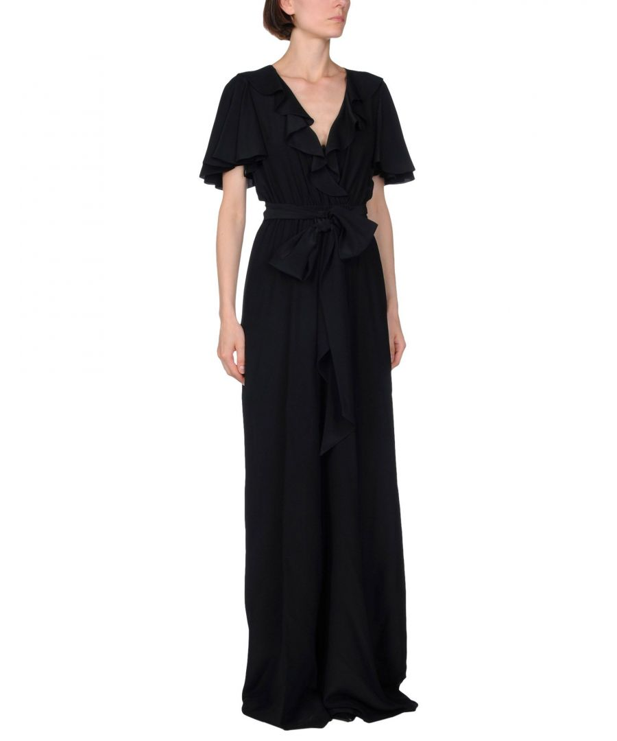 Image for Michael Kors Collection Black Silk Jumpsuit
