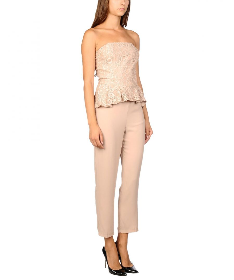 Image for Kaos Pale Pink Lace Jumpsuit