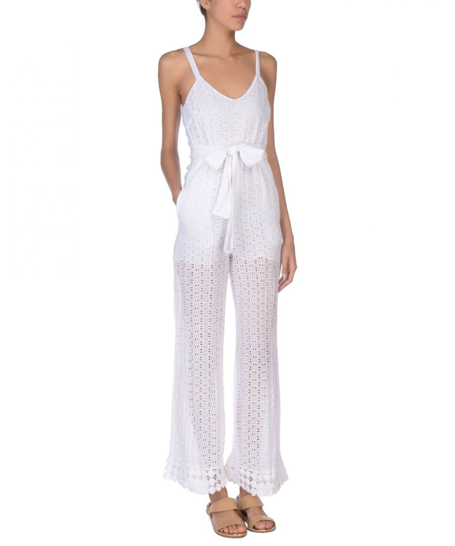 Image for Pinko White Tie Waist Jumpsuit