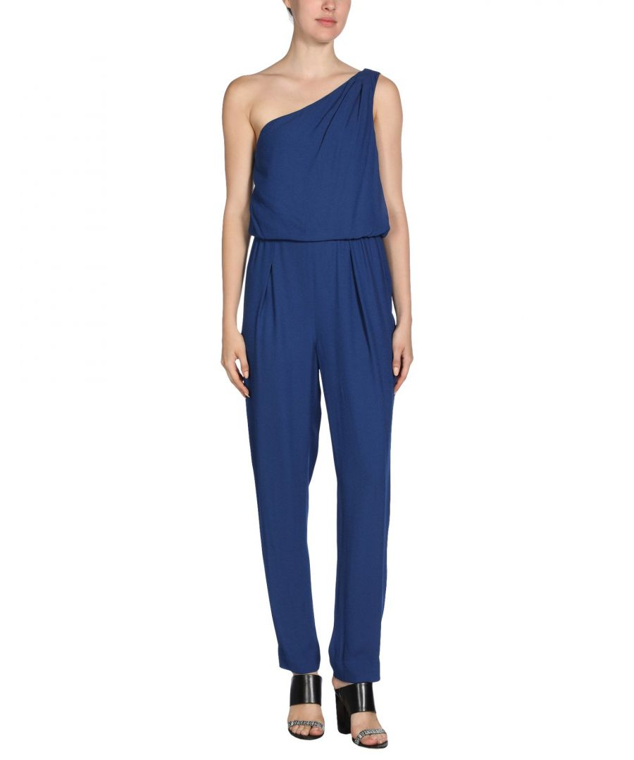 Image for Halston Blue One Shoulder Jumpsuit