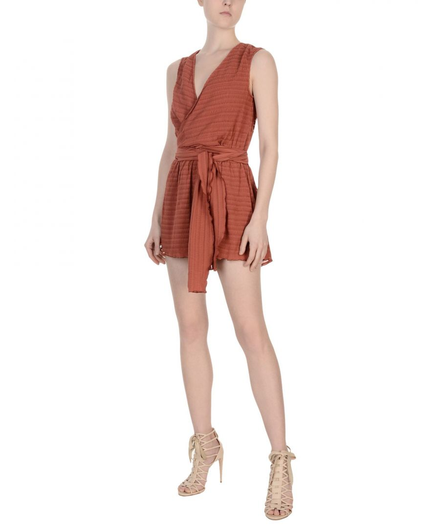 Image for Finders Keepers Rust Crepe Sleeveless Playsuit