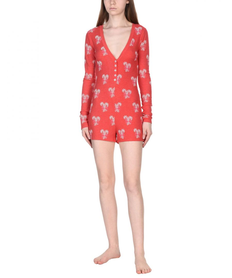 Image for Wildfox Red Print Jersey Playsuit