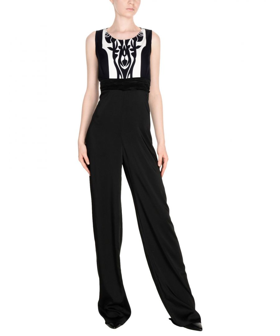 Image for Maiocci Black Crepe And Satin Sleeveless Jumpsuit