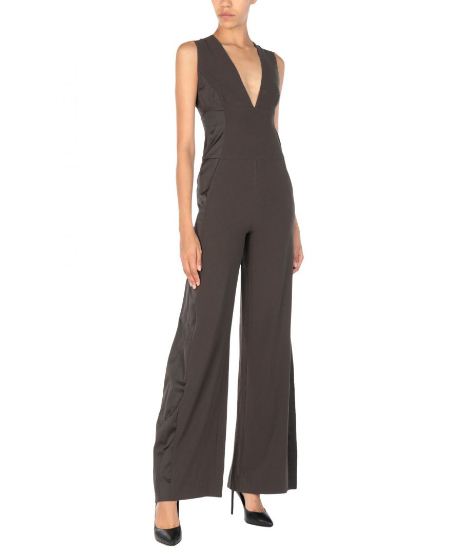 Image for Halston Dark Brown Jumpsuit