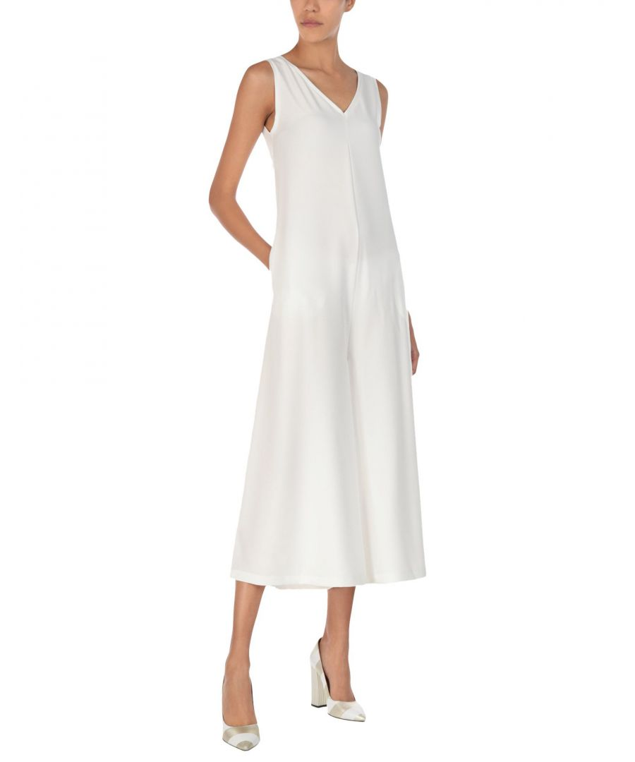 Image for Gabardine White Crepe Jumpsuit