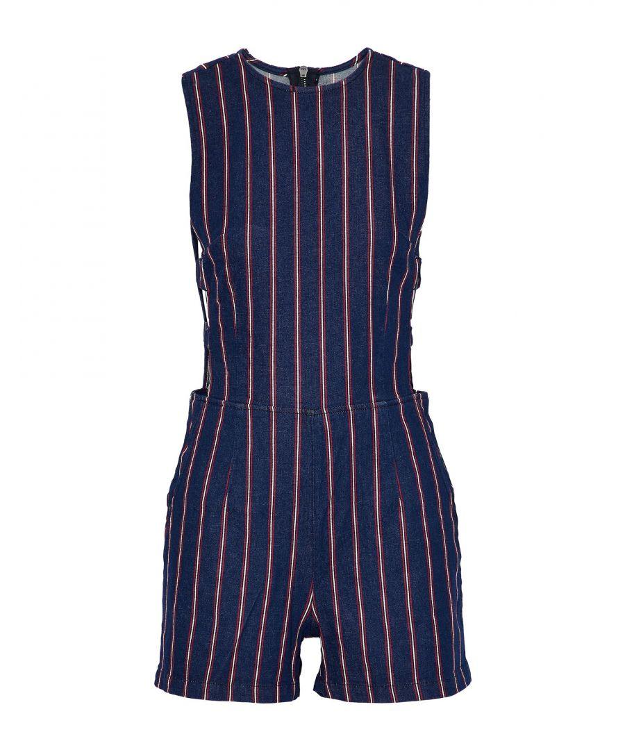 Image for 3X1 Blue Stripe Denim Playsuit