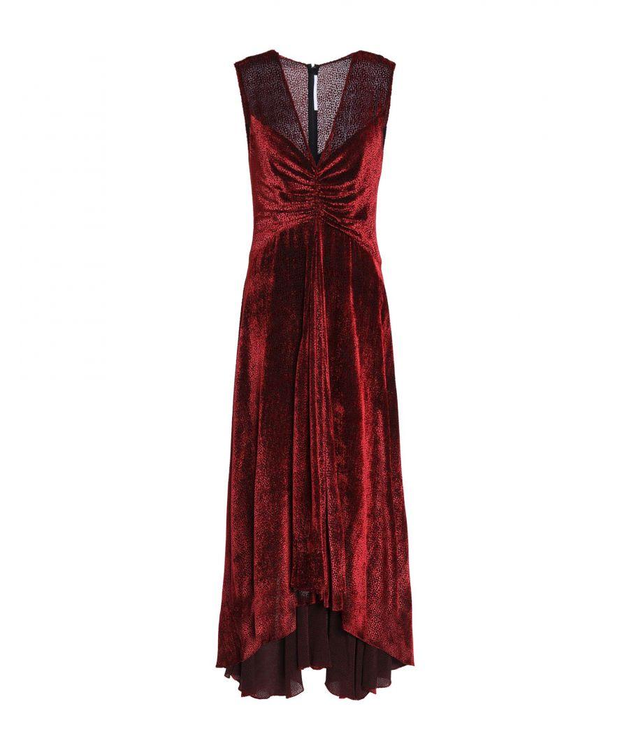 Image for Rosetta Getty Maroon Velvet Full Length Dress