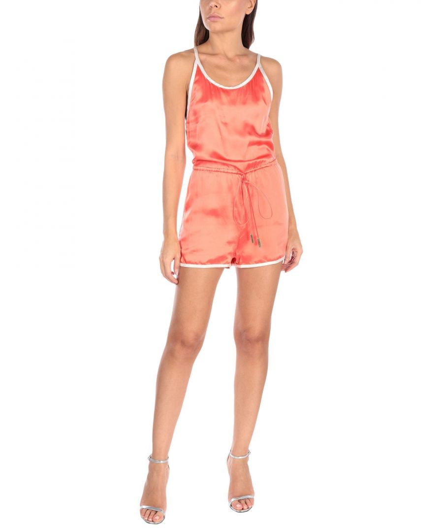 Image for Dsquared2 Coral Silk Playsuit