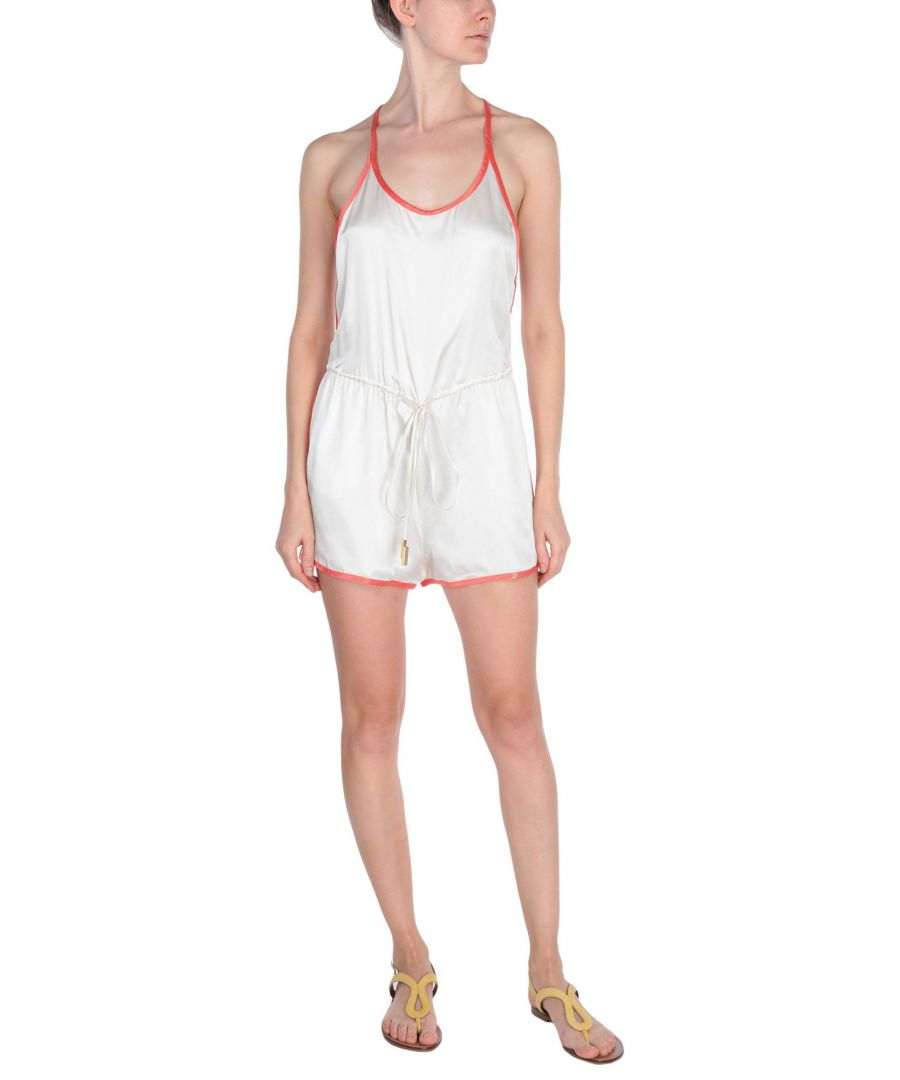 Image for Dsquared2 Ivory Silk Playsuit