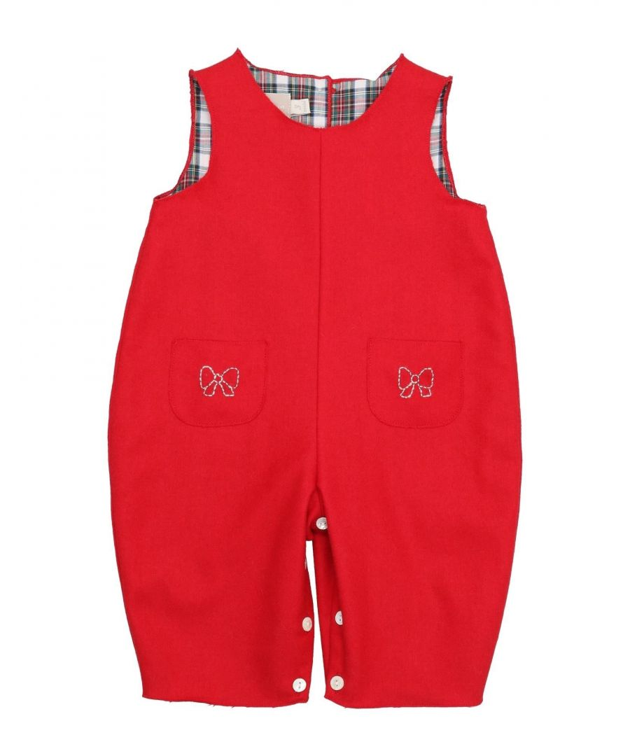 Image for DUNGAREES Girl La Stupenderia Red Virgin Wool