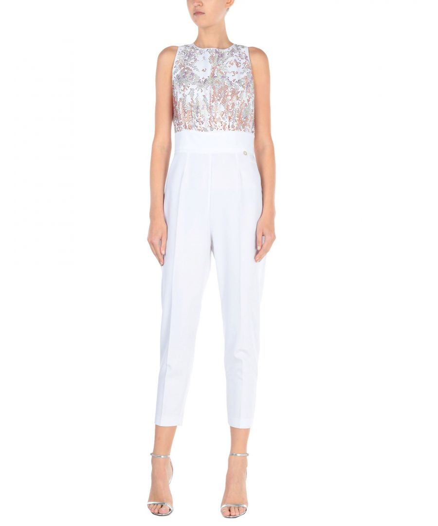Image for Mangano White Embellished Jumpsuit