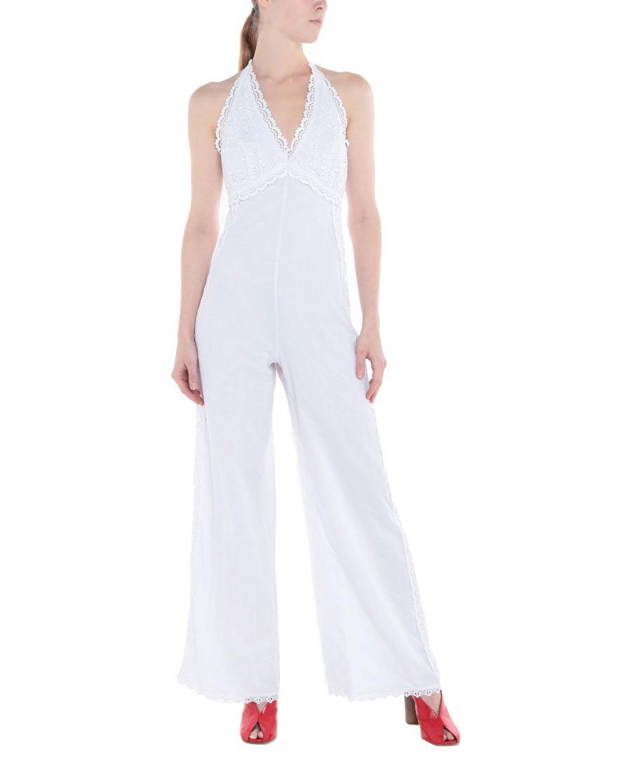 Image for Charo Ruiz Ibiza White Cotton Jumpsuit
