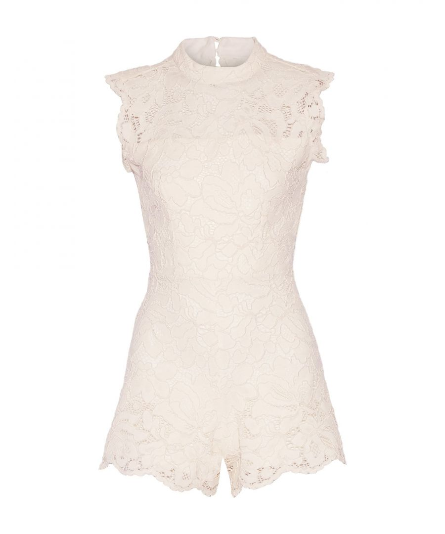 Image for Alexis Ivory Cotton Lace Playsuit