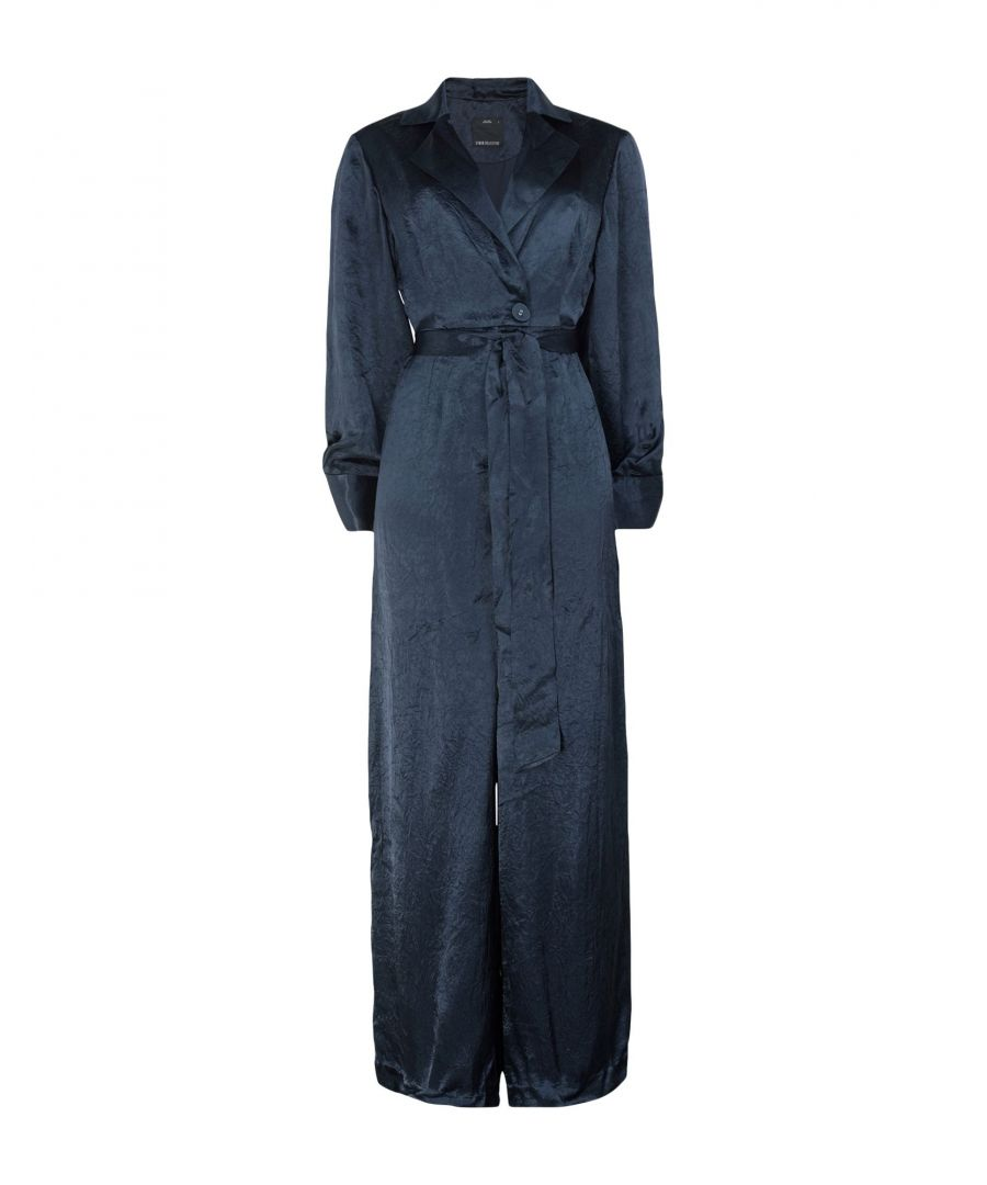 Image for C/Meo Collective Dark Blue Satin Jumpsuit
