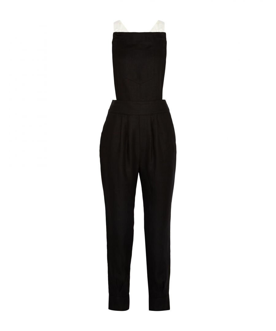 Image for Band Of Outsiders Black Linen Dungarees