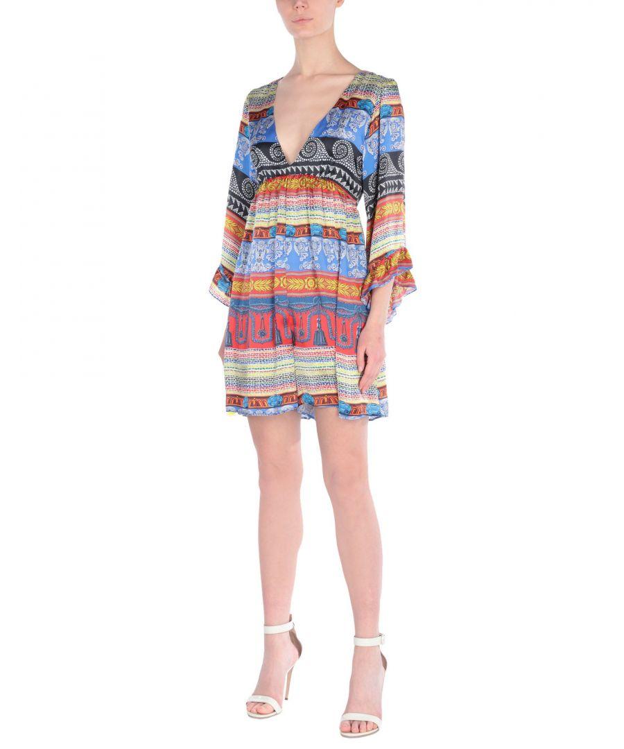 Image for Leitmotiv Blue Stripe Silk Playsuit