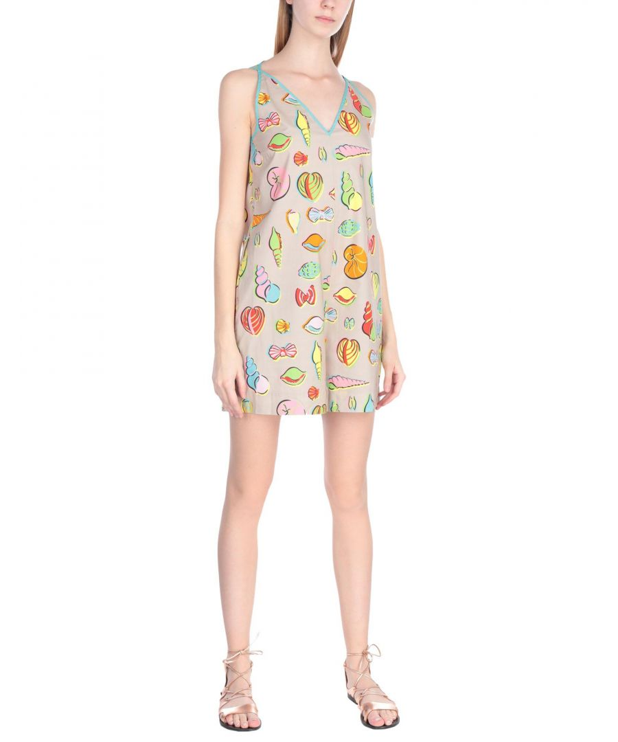 Image for Boutique Moschino Beige Print Cotton Playsuit