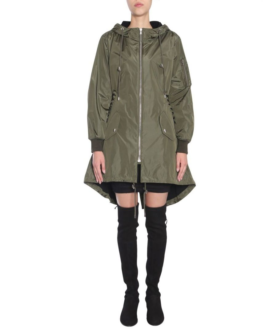 Image for MOSCHINO WOMEN'S A062055141440 GREEN ACRYLIC OUTERWEAR JACKET