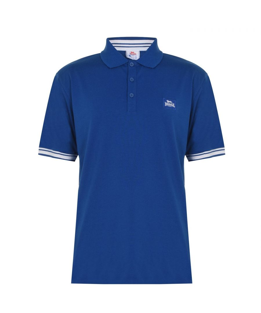 Image for Lonsdale Mens Jersey Polo Shirt Classic Fit Tee Top Short Sleeve Button Placket