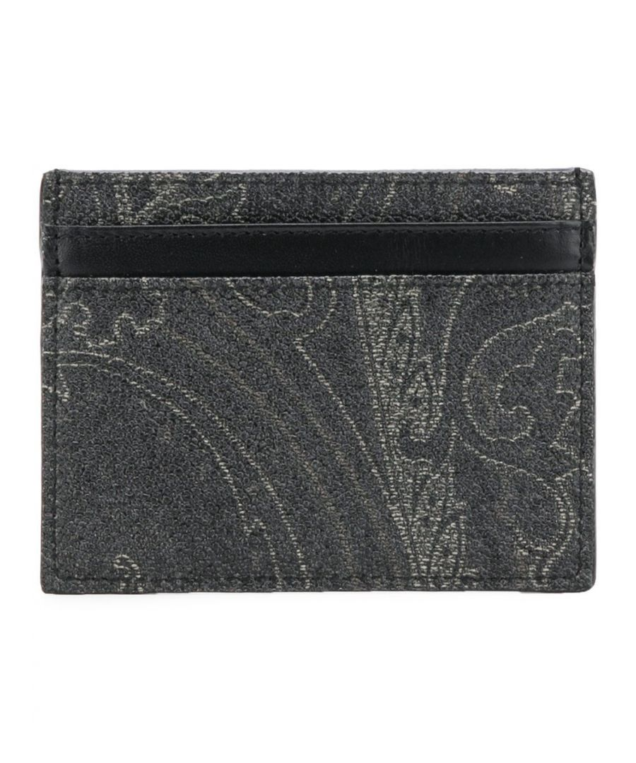Image for ETRO MEN'S 0H7698007001 GREY LEATHER CARD HOLDER