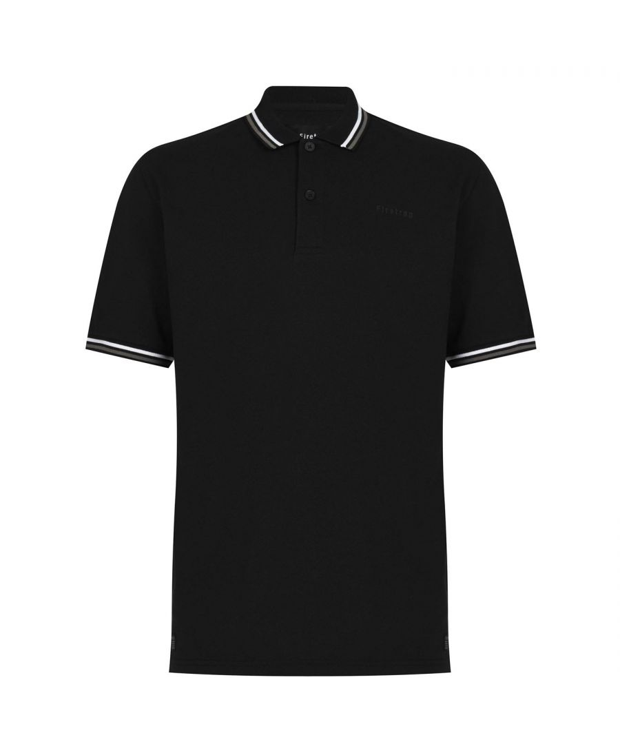 Image for Firetrap Mens Lazer Polo Shirt Short Sleeve Top Tee Ribbed Trim Fold Over Collar