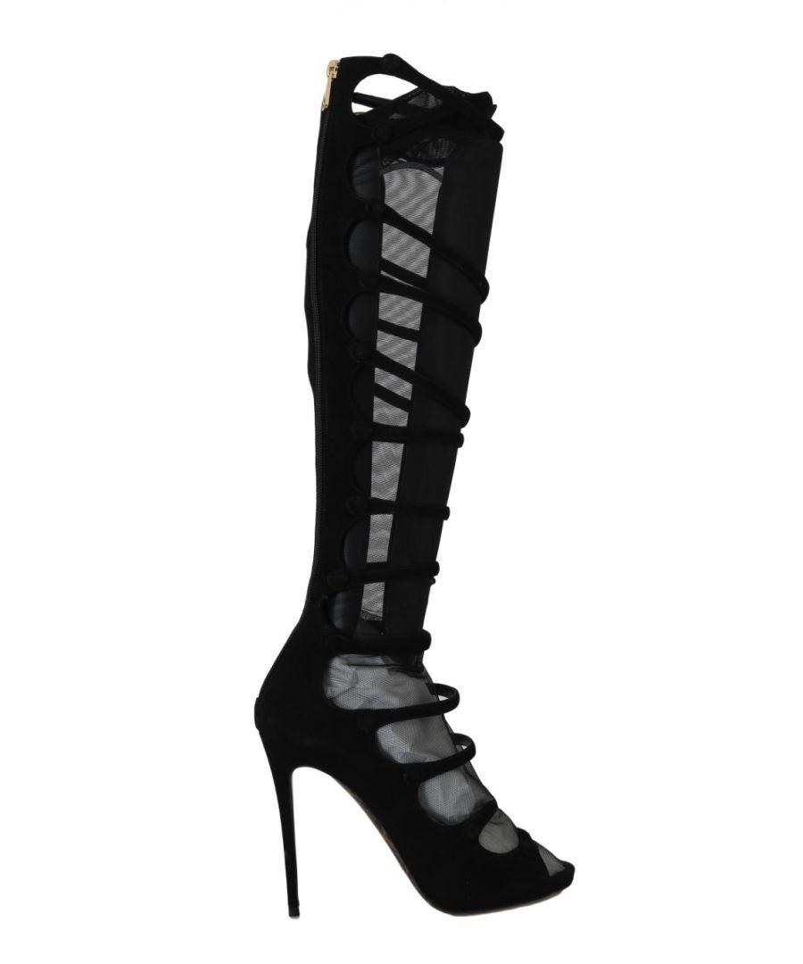 Image for Dolce & Gabbana Black Suede Stretch Straps
