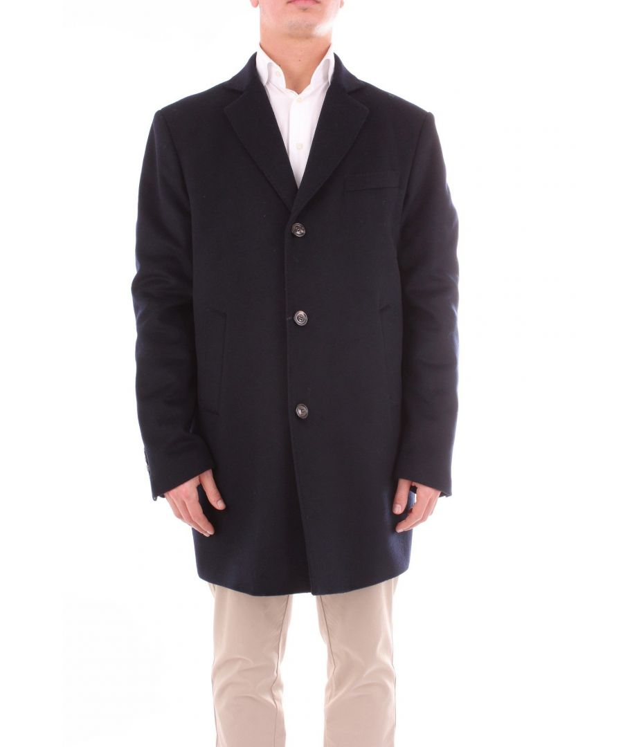 Image for ALESSANDRO DELL'ACQUA MEN'S AD1311T3024BLUE BLUE OTHER MATERIALS COAT