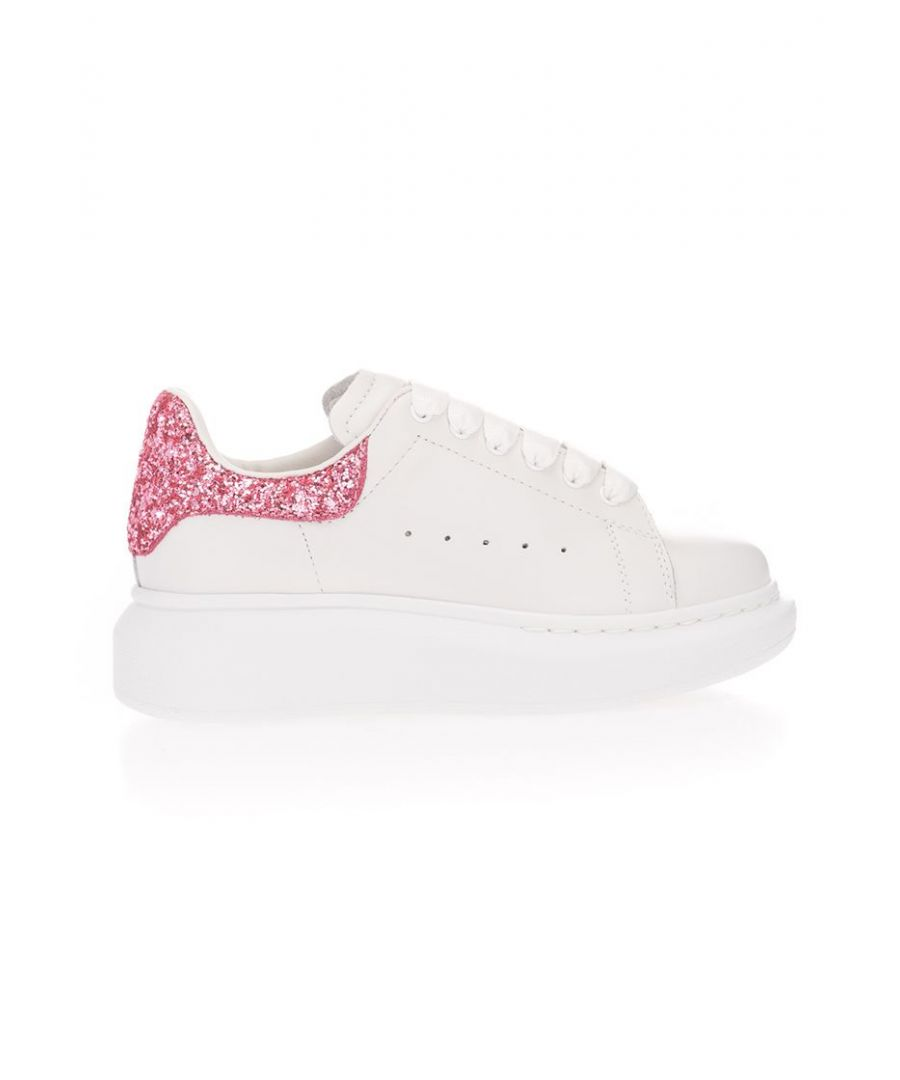 Image for ALEXANDER MCQUEEN GIRLS 612099WHX169387 PINK LEATHER SNEAKERS