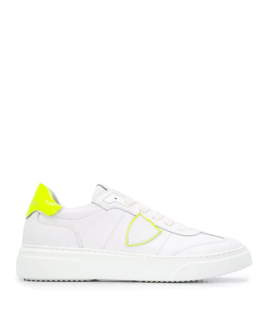 Image for PHILIPPE MODEL MEN'S BDLUVF01 WHITE LEATHER SNEAKERS