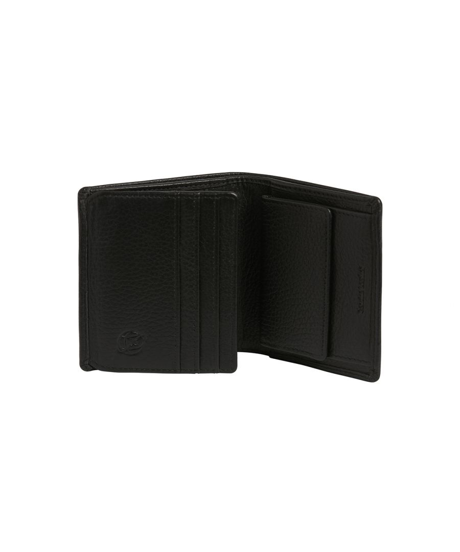 Image for Black Leather Coin/Card Wallet