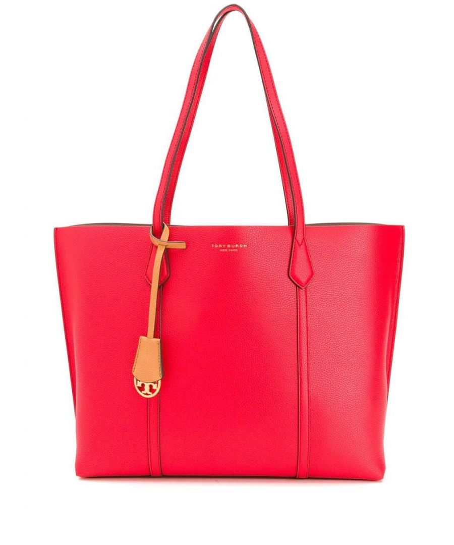 Image for TORY BURCH WOMEN'S 53245612 RED LEATHER TOTE