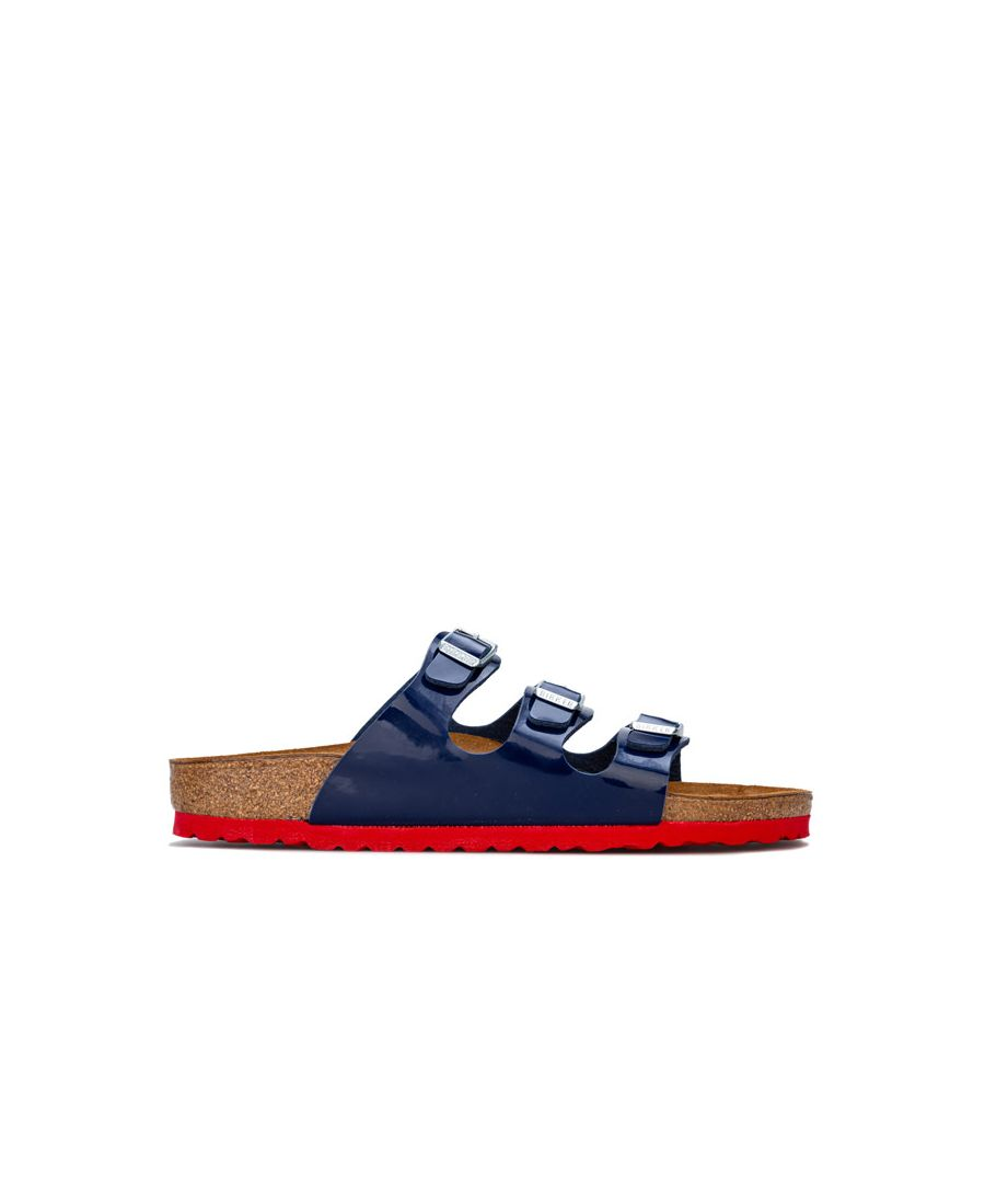 Image for Men's Birkenstock Florida BF Lack Sandals in Blue