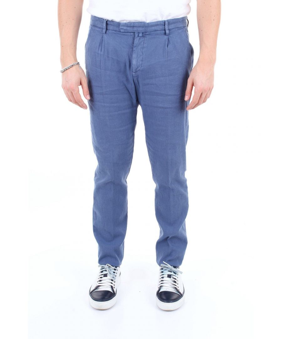 Image for BRIGLIA 1949 MEN'S BG0739547AVION BLUE COTTON PANTS