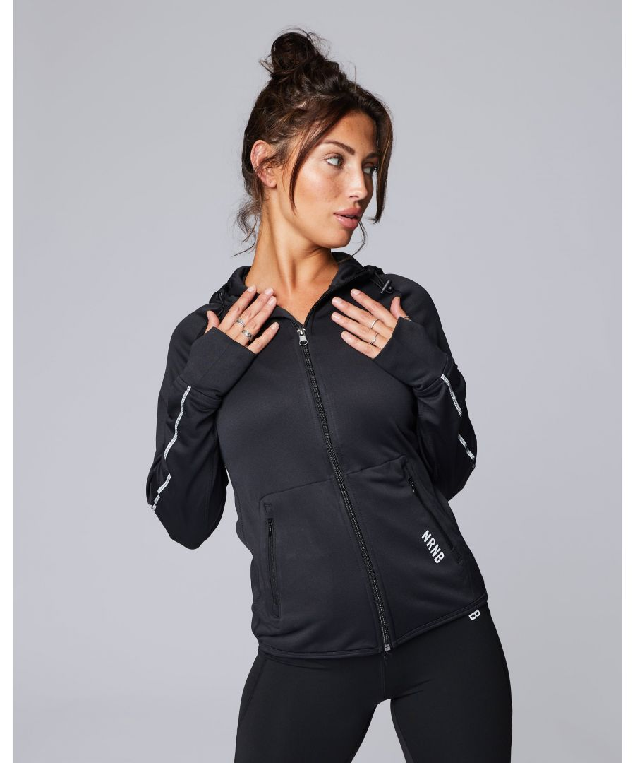 Image for Signature Reflective Zip Up Hoodie in Black