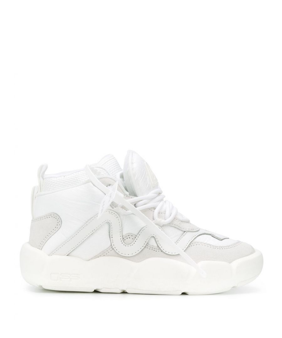 Image for OFF-WHITE WOMEN'S OWIA218S20FAB0020201 WHITE LEATHER HI TOP SNEAKERS