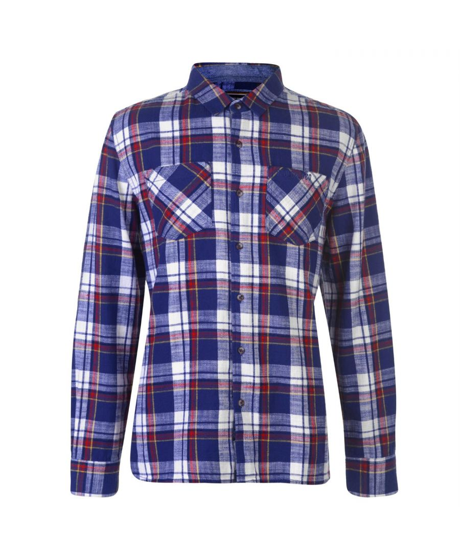 Image for SoulCal Mens Flannel Shirt Long Sleeve Casual Lightweight 100% Cotton Top