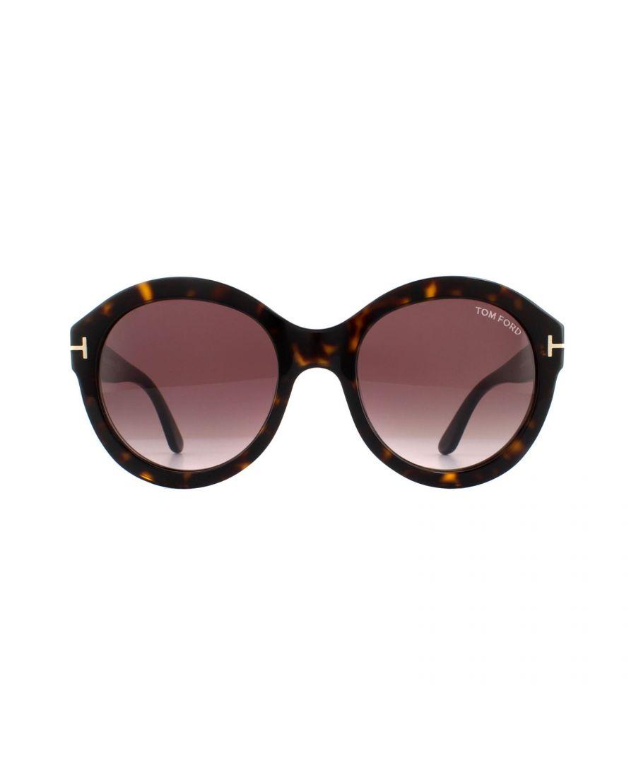 Image for Tom Ford Sunglasses Kelly 0611 52T Shiny Black Grey Smoke Gradient