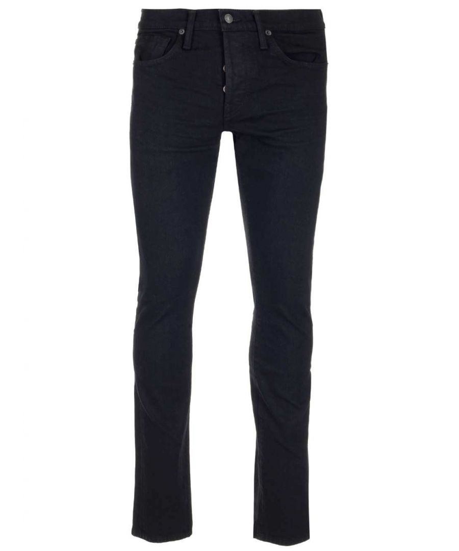 Image for TOM FORD MEN'S BRJ05TFD001K09 BLACK COTTON JEANS