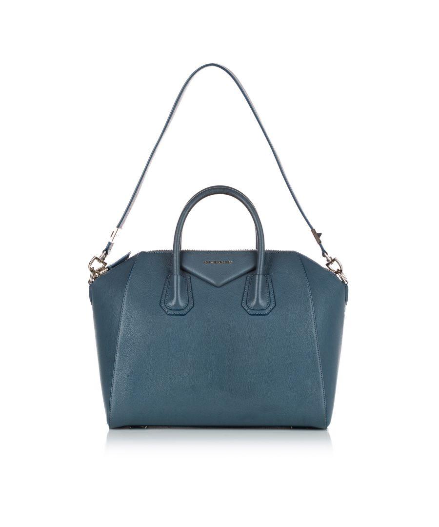 Image for Vintage Givenchy Antigona Leather Satchel Blue