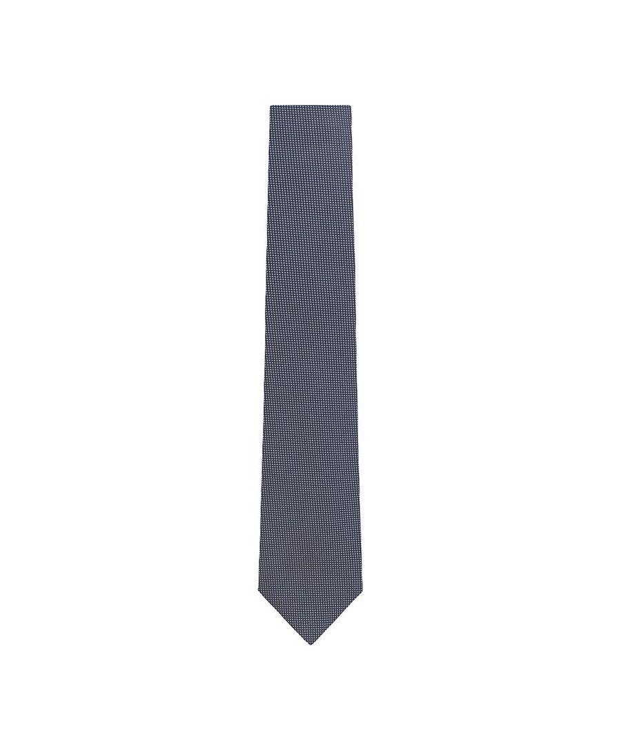 Image for Men's Hackett Tiny Polka Dot Tie in Blue & White