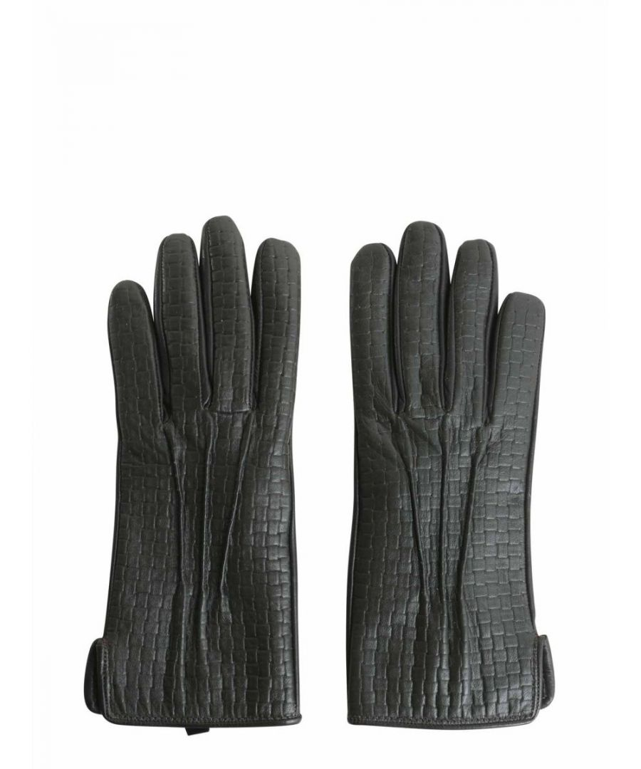 Image for TRUSSARDI WOMEN'S 56961450 GREY LEATHER GLOVES